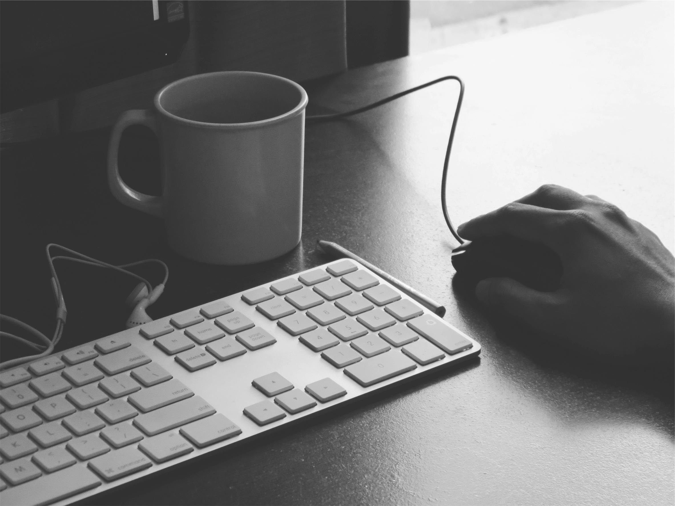 keyboard coffee